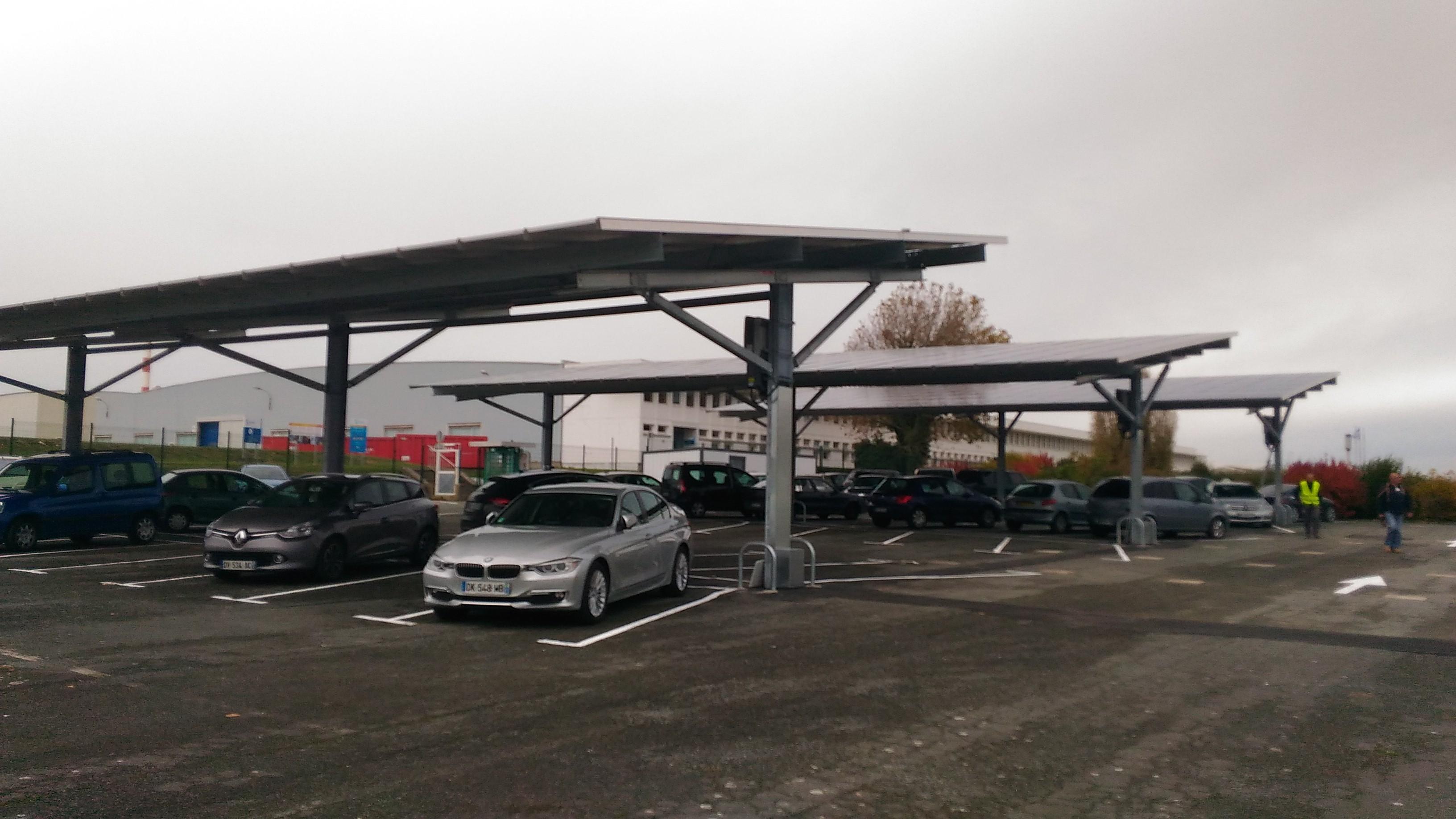 ombrière de parking La Rochelle